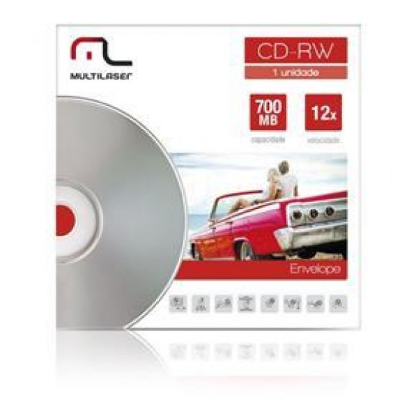 CD-RW REGRAV. MULTILASER C/ENVELOPE (P/25) 8819