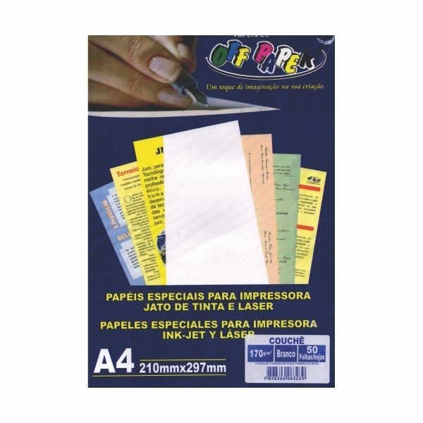 PAPEL A4 170GR OFFPAPER COUCHE BR C/50 82
