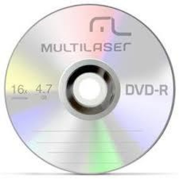 DVD-R MULTILASER 50 MIN. 4.7GB 16X (P/100) 2575