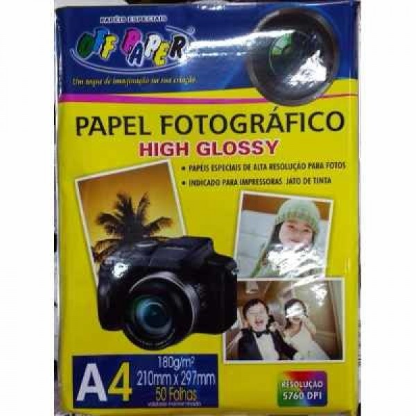 GLOSSY PAPER A4 180 GR OFFPAPER C/50 9834