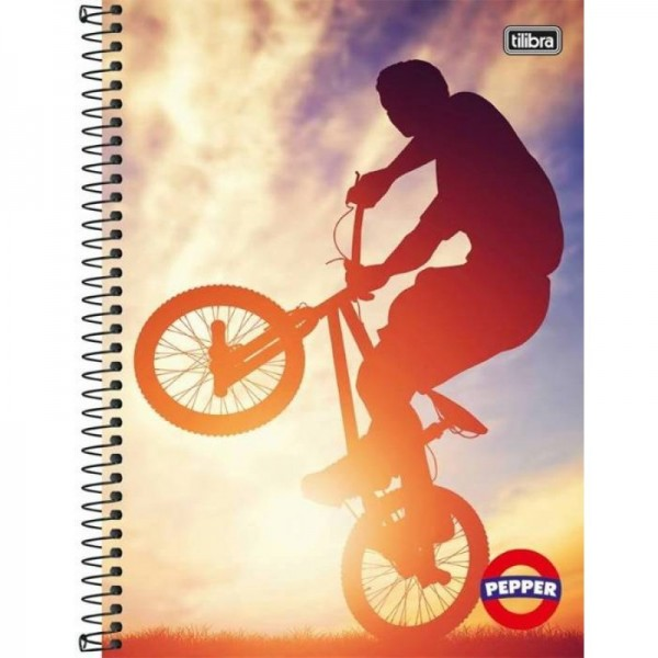 CADERNO CD 10X1 160FL TILIBRA PEPPER (P/4-M/16) 9886