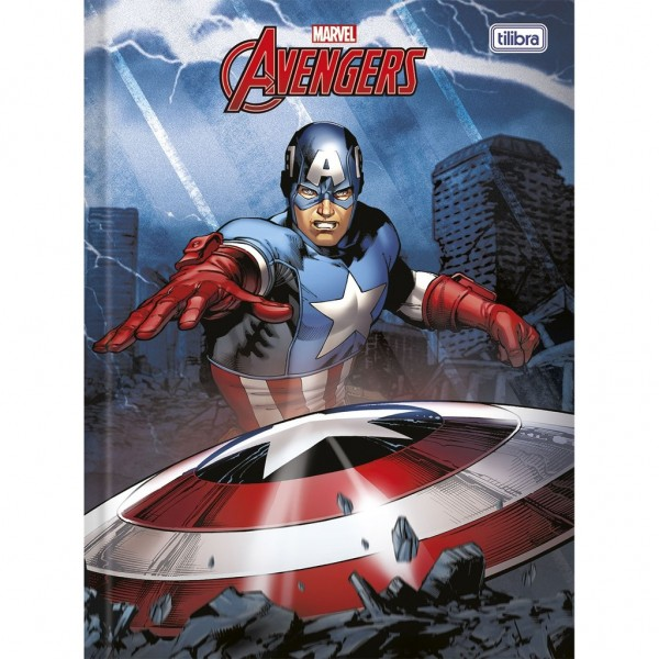 CADERNO CD 1X1 96FL TILIBRA MARVEL ADVENGERS (P/4-M/32) 10088