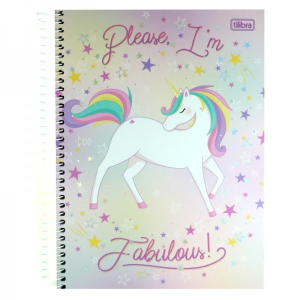 CADERNO CD 10X1 160FL TILIBRA BLINK UNICORN (P/4) 10180